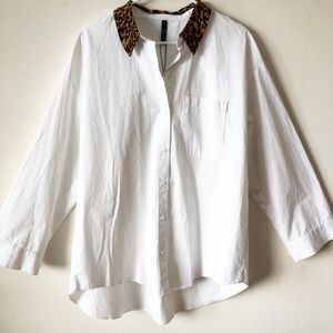Zara TRAFALUC Collection White shirt M